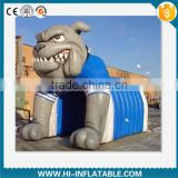 Custom football,baseball inflatable bull dog tunnel for sports games/inflatable mascot tunnel