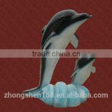 Guangzhou manufacturers custom metal stainless steel/copper dolphin sculpture hotel/square/store/community