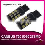 Best Offer Nonpolar Canbus LED Lamp Bulb T20 7440/7443 5050 27SMD 12V Led Work Light Bulb