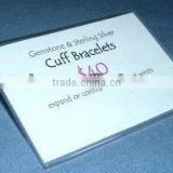 Acrylic Sign Holder for My Jewelry Booth Signs Retail Counter Advertising Sign Board With Pricelist