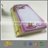 fancy print logo sticky notes,letter shaped memo pad,sticky note pad
