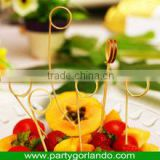food grade disposable party bamboo loop pick skewer
