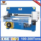 HG-B100T with printed card vacuum form blister clamshell cutting press machine
