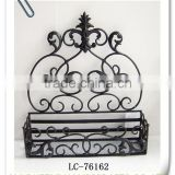 LC-76162 Wrought Iron Decorative Wall Basket Bathroom Storage Basket