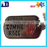 ZOMBIE RACE enamel dog tag with 90cm ball chain