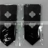 OEM High Quality Custom embroidery epaulette, military uniform shoulder board, emblem badges                                                                         Quality Choice