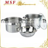 20cm, 24cm multi-cookware set pasta cooker steamer set steamer insert microwave oven safe MSF-L3093