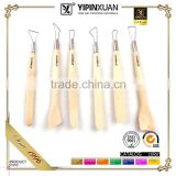 6Piece Pottery and Clay Modeling Tools Sculpture Set