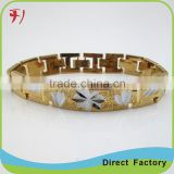 Copper/brass New style fancy yellow gold plated Fashion bracelets bangles models dubai