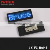 Digital Blue Rechargeable Battery Backup digital LED Display / LED name badge / Mini name card
