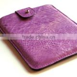 For Pad Mini Case, iPad Mini Sleeve, iPad Mini Bag, Leather Tablet Case, iPad Cover, Grained Purple Leather