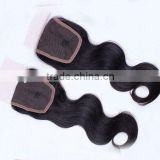 "Hot Selling Wholesale Price18"" #1B Natural Body Wave, Soft & Durable, Peruvian hair full front lace closures"