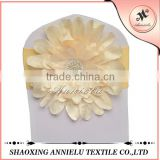 Popular artifical flower decoration for banquet chair