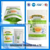 top zip plastic bag/round bottom plastic zipper bag Plastic food packaging bag for cereal