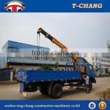 best price 6.3tons swing telescopic boom cheap crane machines sale for truck with ISO9001 certification