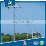 High Voltage Hop Dip Galvanized Electrical Transmission MonoPole Tower