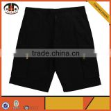 Wholesale Custom Cotton Pants Baggy Black Cargo Shorts for Men