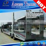 Double axles 6 units car transport vehicle semi trailer use hydraulic car carrier trailer truck for sale