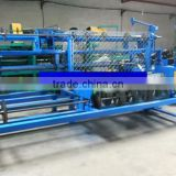 manual operated chain link fence machine making