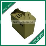 POPULAR USE FOOD INDUSTRY CORRUGATED BENTO PACKING SHIPPING CARTONS WITH HANDLE AND HOLES