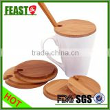 100% food grade cup lid/bamboo lids with silicon ring for glass bottle                                                                                                         Supplier's Choice
