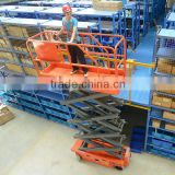 Hot sales warehousing aerial safety equipment self-propelled aerial work platform