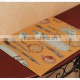 High quailty wholesale tapestry jacquard fabric table mat and runner