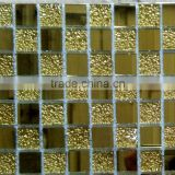 Cheap price Modern Gold Crystal Glass Mosaic Tiles                                                                         Quality Choice