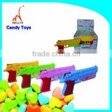 mini plastic promotion toy gun toy with candy in bulk