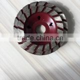factory high quality power tool continuous turbo cup grinding wheel for concrete and stones