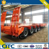 Best selling products truck 4axles low bed semi trailer /60ton lowbed trailer with container for transport heavy cargo