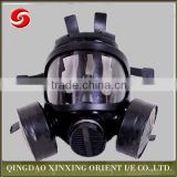 Novel full face chemical gas mask with double filter , full face activated carbon gas mask, full face respirator