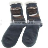 Good quality fast delivery slipper socks with rubber sole