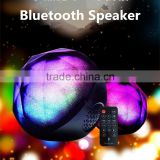 Colorful Ball Bluetooth Speaker Wireless Speaker HIFI Bass Handsfree Speaker With LED Flash Lighting Support TF Card FM