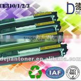 Compatible color toner cartridge for CE310/311/312/313 and premium toner cartridge with chip