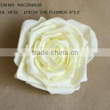 "2014 Elegant Artificial PE Flower 8"" Artificial PE Wedding Rose Head"