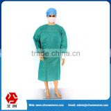 China factory supplier sterile blue Disposable Medical Products hospital gowns and isolation gowns, lab coats