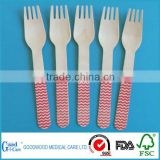eco - friendly stripe wooden utensils,crafting spoons forks knives weddings parties banquets disposable wooden cutlery set