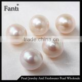 12-13mm white no hole pearl beads natural Edison pearls for making jewelry