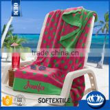 China supplier 2016 new design beach towel lounge chair cover pocket