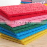OEM factory price non-abrasive nylon green scouring pad rolls material for kitchen cleaning