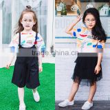 China Manufacture Lovely Abstract Printed Design Short Sleeve Girl T-shirt, Children's Boutique Clothes