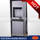 Compressor vertical stand bottled water dispenser with hot and cold taps