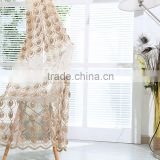 2016 Ready made embroidery window curtain polyester sheer fabric for container home curtain
