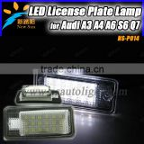 24SMD Canbus Led Car Lighting Led License Plate Lamp For AUDI A3 A4 A6 A8 Q7 Car Accessories License Plate Lamp