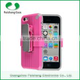 wholesale smartphone case 8 colors PC+Silicon waterproof universal back case cover for iphone 6 5 4 with Support clip
