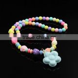 Fashion DIY Jewelry Handmade Multicolor Acrylic Children Baby Kids Beads Strand Charm Necklaces