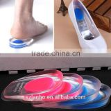 2015 new Gel Shoes Insoles Cushion Heel Cup Massage Pads Inserts Heel Pain Spur Silicone
