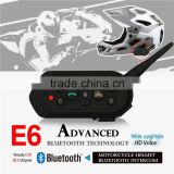 EJEAS E6 Wireless Hands free Walkie Talkie Bluetooth Motorcycle Helmets 6 rider connect 2 riders full duplex talking