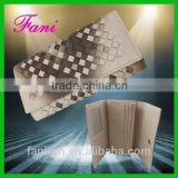 Fancy braided lines design womens PU leather wallets with good handmade craft